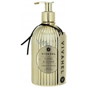 Vivian Gray Vivanel Prestige Ylang & Cedr luxusní tekuté mýdlo s dávkovačem 350 ml