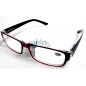 Berkeley Čtecí dioptrické brýle +2,0 plast vínové černé stranice 1 kus MC2062
