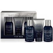 Baylis & Harding Limetka a Máta 2v1 šampon a sprchový gel 100 ml + pleťový mycí gel 100 ml + balzám po holení 50 ml, kosmetická sada pro muže