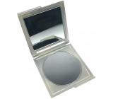 Zrcátko dvojité hranaté stříbrné 7,5 x 8,5 x 0,5 cm 853