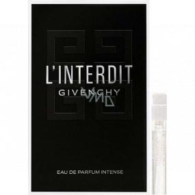 DÁREK Givenchy L Interdit Eau de Parfum Intense parfémovaná voda pro ženy 1 ml s rozprašovačem, vialka