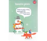 Albi Hrací přání do obálky K Vánocům Přání se sněhulákem Rolničky Malý dětský sbor Minutáž 14,8 x 21 cm