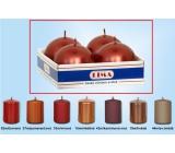 Lima Svíčka hladká metal červená koule průměr 60 mm 4 kusy