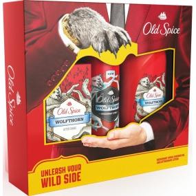 Old Spice Wolfthorn deodorant sprej 125 ml + sprchový gel 250 ml + voda po holení 100 ml, kosmetická sada