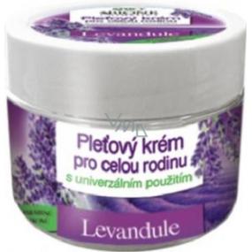 Bione Cosmetics Bio Levandule pleťový krém pro celou rodinu s univerzálním použití 260 ml