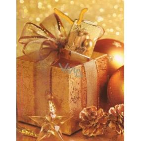 Nekupto Dárková papírová taška střední 885 01 WBM Zlatý dárek 23 x 18 x 10 cm