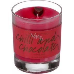 Bomb Cosmetics Chilli a čokoláda - Chilli and Chocolate Glass Candle Vonná přírodní, ručně vyrobena svíčka ve skle hoří až 35 hodin