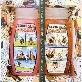 Bohemia Černí kačeři sprchový gel jahoda pro děti 250 ml + vlasový šampon meruňka pro děti 250 ml, kosmetická sada