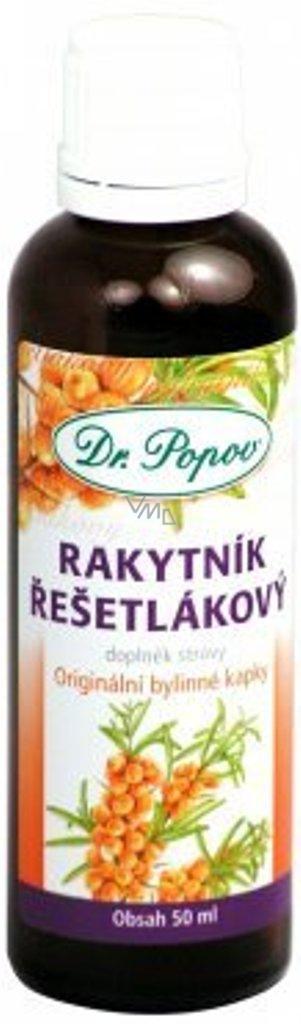 Dr.Popov Rakytník řešetlákový originální bylinné kapky 50 ml