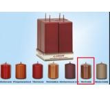 Lima Svíčka hladká metal hnědá hranol 45 x 120 mm 4 kusy