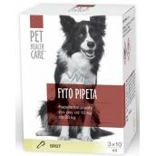Pet Health Care Fytopipeta Repelentní pipeta pes 10-20 kg 3 x 10 ml