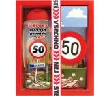 Bohemia Gifts & Cosmetics Vše nejlepší 50 sprchový gel 300 ml + ručně vyráběné toaletní mýdlo 55 g, kosmetická sada