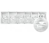 Sada skleněných baněk s proužky 4 cm, 6 ks