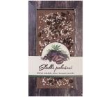 Bohemia Gifts & Cosmetics Sladké pokušení Kávové zrno a Konopné semínko Ručně vyráběná mléčná, hořká čokoláda 80 g