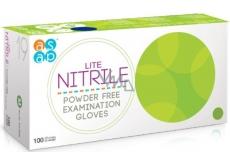 Asap Rukavice syntetický nitril latex jednorázové nepudrované vyšetřovací velikost L box 100 kusů