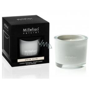 Millefiori Milano Natural White Musk - Bílé pižmo Vonná svíčka hoří až 60 hodin 180 g