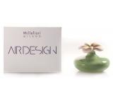 Millefiori Air Design Difuzér květina nádobka pro vzlínání vůně pomocí porézní vrchní části malá zelená