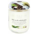 Heart & Home Bílý čaj a eukalyptus Sojová vonná svíčka střední hoří až 30 hodin 110 g