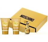 Moschino Fresh Gold parfémovaná voda 5 ml + tělové mléko 25 ml + sprchový gel 25 ml, dárková sada