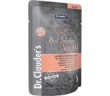 Dr. Clauders Best Selection No. 4 Kuřecí maso, losos a quinoa kompletní krmivo s kousky masa pro kočky kapsička 85 g