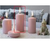 Lima Ice pastel svíčka růžová válec 60 x 120 mm 1 kus
