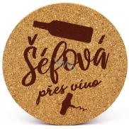 Nekupto Korkový podtácek Šéfová přes víno 10 cm