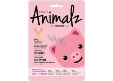 MasqueBar Pretty Animalz Prasátko textilní pleťová hydratační maska 21 ml