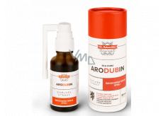 Aromatica Dr. Rukavička Arodubin bylinná tinktura s výtažkem z dubové kůry a směsi deseti bylin, podporující normální funkci dýchacího systému, širokospektrální sprej, doplněk stravy 30 ml
