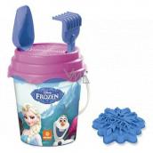 Mondo Frozen Sada na písek kyblík se sítkem, hrabičky, lopatku a bábovku
