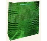 Nekupto Dárková papírová taška hologram standart 23 x 18 x 10 cm Zelená THM