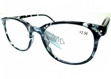 Berkeley Čtecí dioptrické brýle +2,5 plast mourovaté bílo-černé 1 kus MC2198