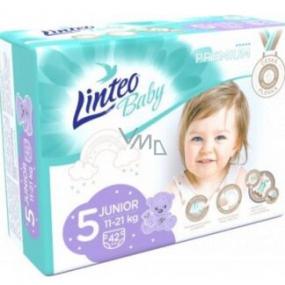 Linteo Baby Premium 5 Junior 11 - 21 kg jednorázové plenky 42 kusů