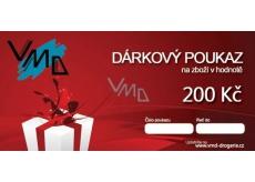 Dárkový poukaz VMD Drogerie na nákup zboží v hodnotě 200 Kč