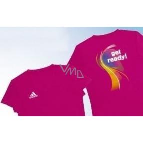 DÁREK Adidas tričko velikost M růžové pro ženy 1 kus