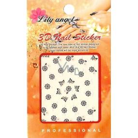 Lily Angel 3D nálepky na nehty 10120 B022 1 aršík