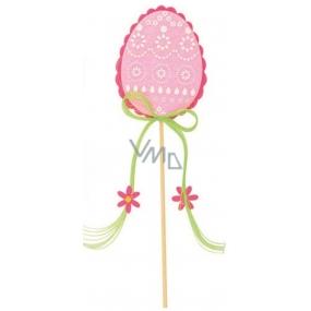 Vajíčko z filcu růžové 8 cm + špejle