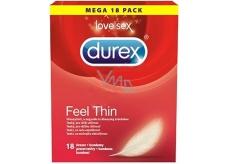Durex Feel Thin kondom extra jemný pro větší citlivost nominální šířka: 56 mm 18 kusů