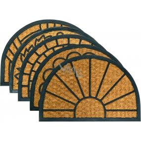 Spokar Rohožka Criss Cross půlkruh Gumová, vrchní vrstva z kokosového vlákna, Různé vzory 40 x 60 cm
