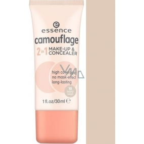 Essence Camouflage make-up a korektor 2v1 10 Ivory Beige 30 ml