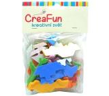 CreaFun Samolepicí dekorace Dopravní prostředky Eva mix barev 50 kusů
