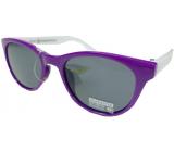 Dudes & Dudettes Sluneční brýle pro děti fialové, bílé stranice 45-20-124