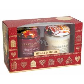 Heart & Home Hřejivé Vánoce+Perníková chaloupka Sojová vonná svíčka velká hoří až 70 hodin 2 x 310 g dárková sada