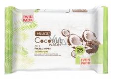 Nuagé Skin Coconut Water vlhčené odličovací ubrousky 25 kusů