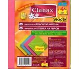 Clanax Univerzální prachová utěrka viskóza 35 x 38 cm 125 g/m2 4 kusy