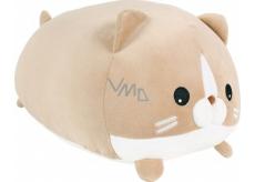 Albi Humorný polštář velký Hnědá kočka 36 x 30 cm