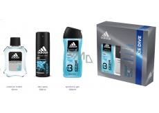 Adidas Ice Dive voda po holení 100 ml + sprchový gel 250 ml + deodorant sprej 150 ml, kosmetická sada
