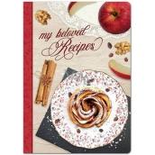 Ditipo Moje milované recepty kniha na recepty, skořicový šnek 17 x 24 cm