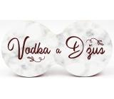 Nekupto Dvojtácek korkový podtácek Vodka a džus 19 x 9,5 x 0,3 cm