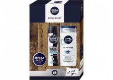 Nivea Men Fresh Boost antiperspirant deodorant sprej 150 ml + sprchový gel 250 ml + krém 30 ml, kosmetická sada pro muže
