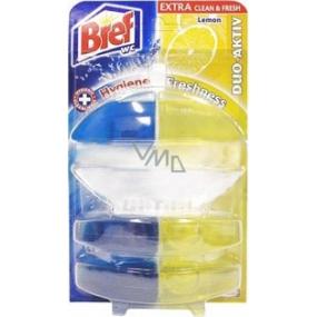Bref Duo Aktiv Extra Clean & Fresh Lemon WC gel komplet 60 ml + 2x náhradní náplň